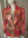 Vertigo Pour la Ville.1980's Rococo Baroque print sateen vintage tailored jacket.UNWORN ***SOLD***
